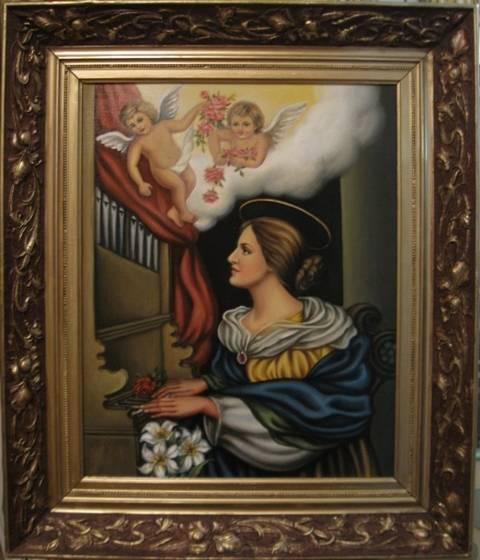 Святая Цецилия (холст,масло)-художник Ядвига Сенько