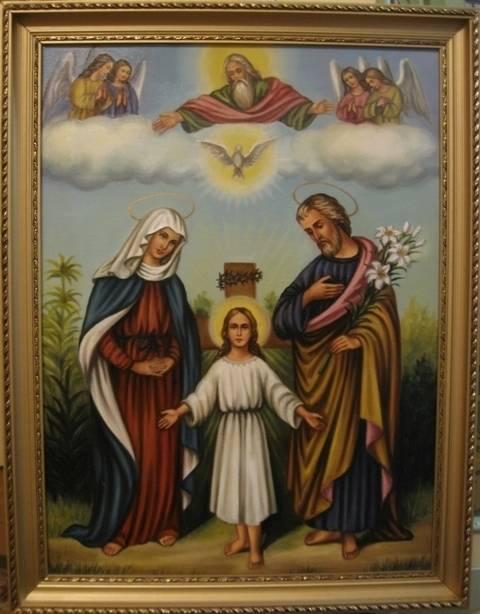 Святое Семейство (холст,масло) художник Ядвига Сенько)