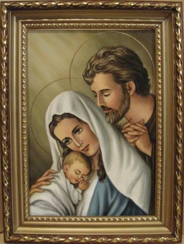 Святое Семейство (холст,масло)-художник Ядвига Сенько