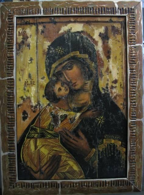 Владимирская Б.М.(холст,масло,лак-патина,кракелюр)-художник Ядвига Сенько