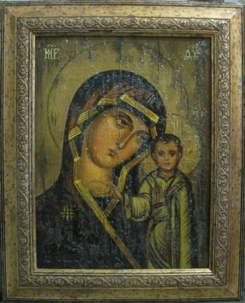 Казанская Б.М.(холст,масло,лак-патина,кракелюр)-художник Ядвига Сенько
