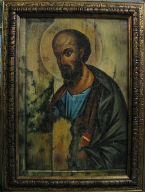 Св.апостол Павел (холст,масло,лак-патина,кракелюр)-художник Ядвига Сенько