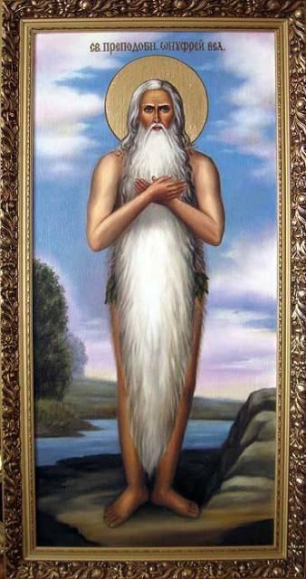 Святой Онуфрий (золст,масло)-художник Ядвига Сенько