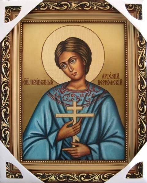 Святой Артемий (холст,масло)-художник Ядвига Сенько