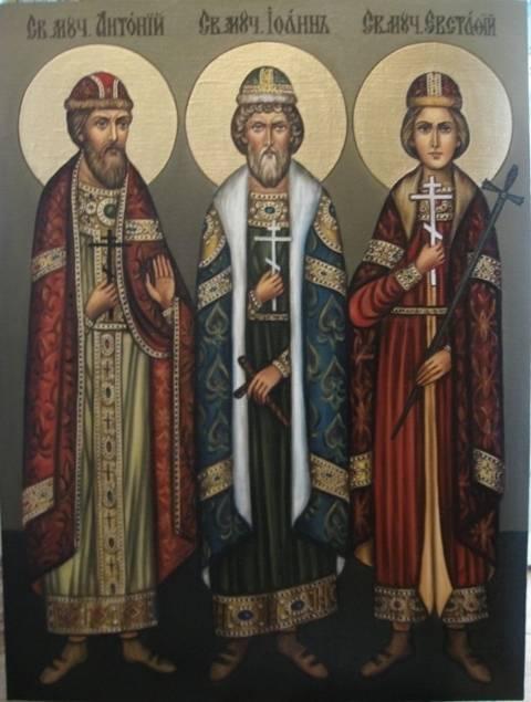 Св.Виленские мученики (холст,масло)-художник Ядвига Сенько