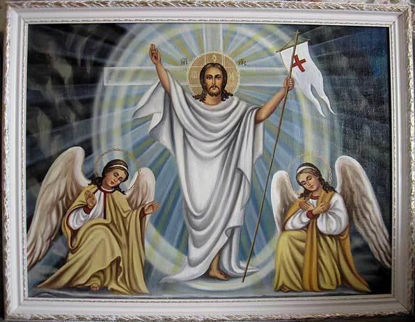 Воскресение Христово (холст,масло)-художник Ядвига Сенько