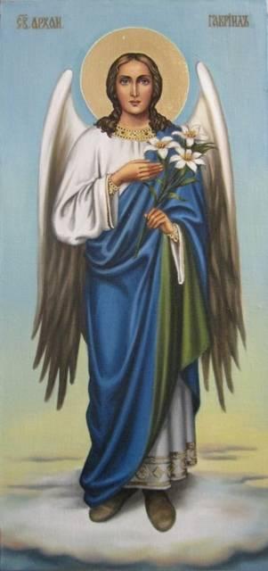 Св.архангел Гавриил (холст,масло)-художник Ядвига Сенько