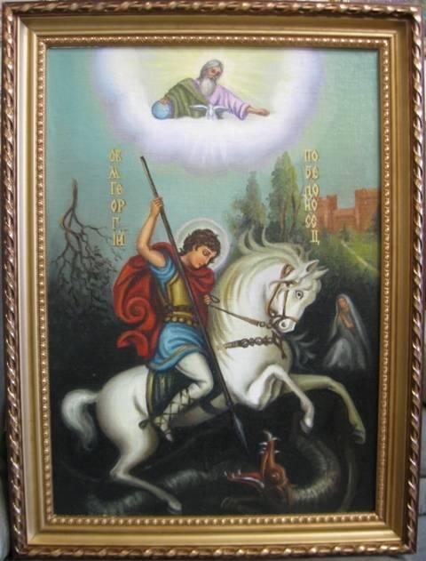 Св.Георгий Победоносец (холст,масло)-художник Ядвига Сенько