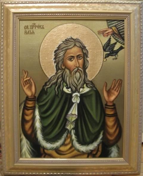 Св.пророк Илия (холст,масло)-художник Ядвига Сенько
