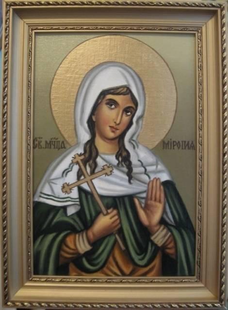 Св.Миропия (холст,масло)-художник Ядвига Сенько