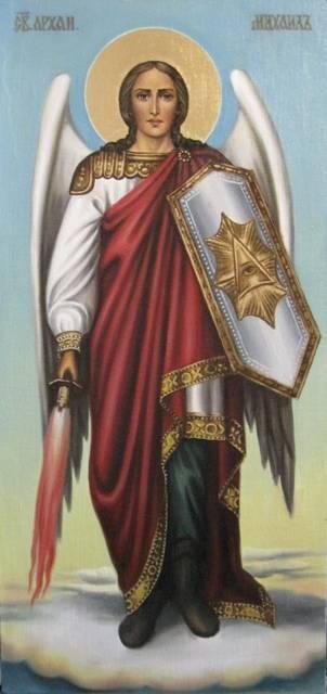 Св.архангел Михаил (холст,масло)-художник Ядвига Сенько