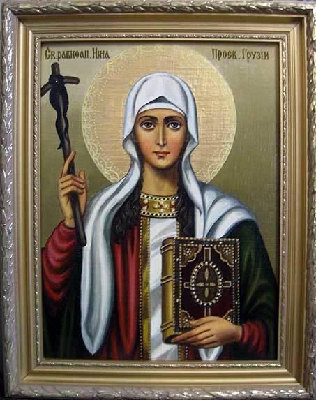Св.равноапостольная Нина (холст,масло)-художник Ядвига Сенько