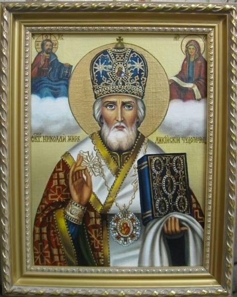 Св.Николай чудотворец (холст,масло)-художник Ядвига Сенько