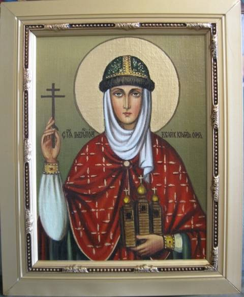 Святая княгиня Ольга (холст,масло)-художник Ядвига Сенько