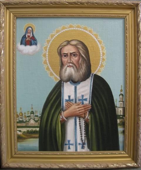 Св.Серафим Саровский (холст,масло)-художник Ядвига Сенько