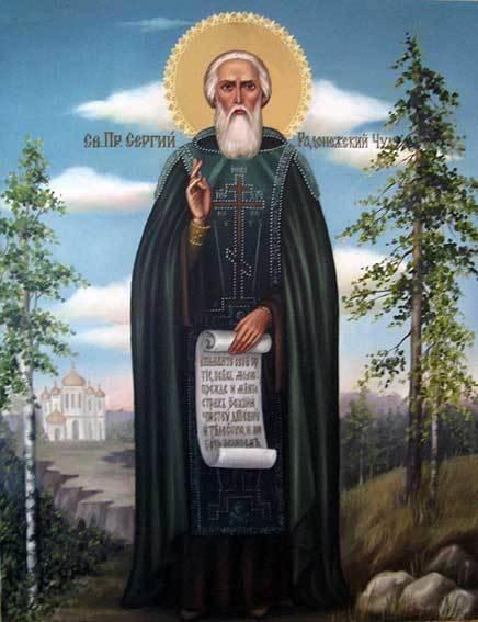 Св.Сергий Радонежский (холст,масло)-художник Ядвига Сенько