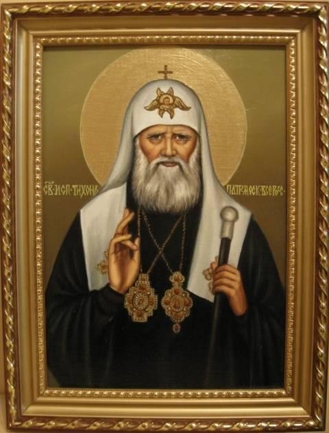 Святой Тихон (холст,масло)-художник Ядвига Сенько