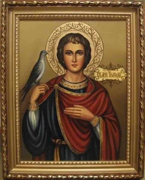 Святой Трифон (холст,масло)-художник Ядвига Сенько