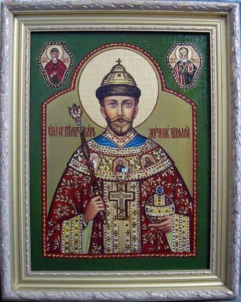Св.Царь НиколайII (холст,масло)-художник Ядвига Сенько