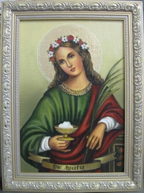 Святая Агата (холст,масло)-художник Ядвига Сенько