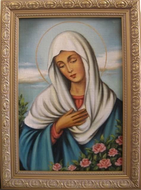 Дева Мария (холст,масло)-художник Ядвига Сенько
