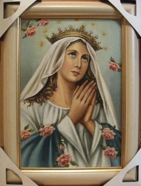 Дева Мария Королева (холст,масло)-художник Ядвига Сенько