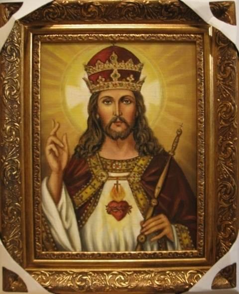 Иисус Христос Царь Всего Мира (холст,масло)-художник Ядвига Сенько