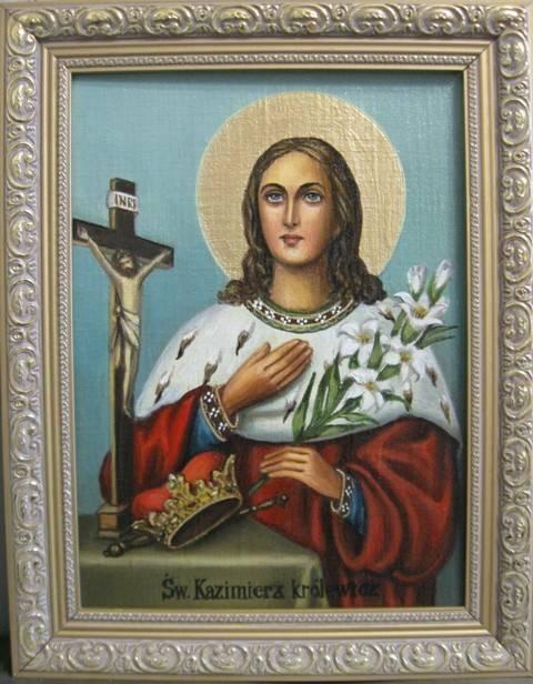 Св.Казимир (холст,масло)-художник Ядвига Сенько