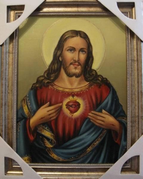 Сердце Иисуса (холст,масло)-художник Ядвига Сенько