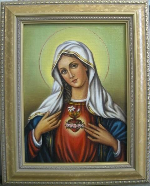 Сердце Марии (холст,масло)-художник Ядвига Сенько (холст,масло)
