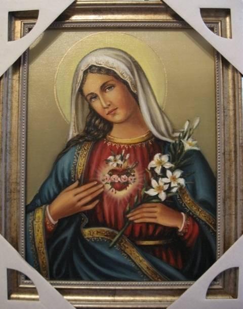 Сердце Марии (холст,масло)-художник Ядвига Сенько