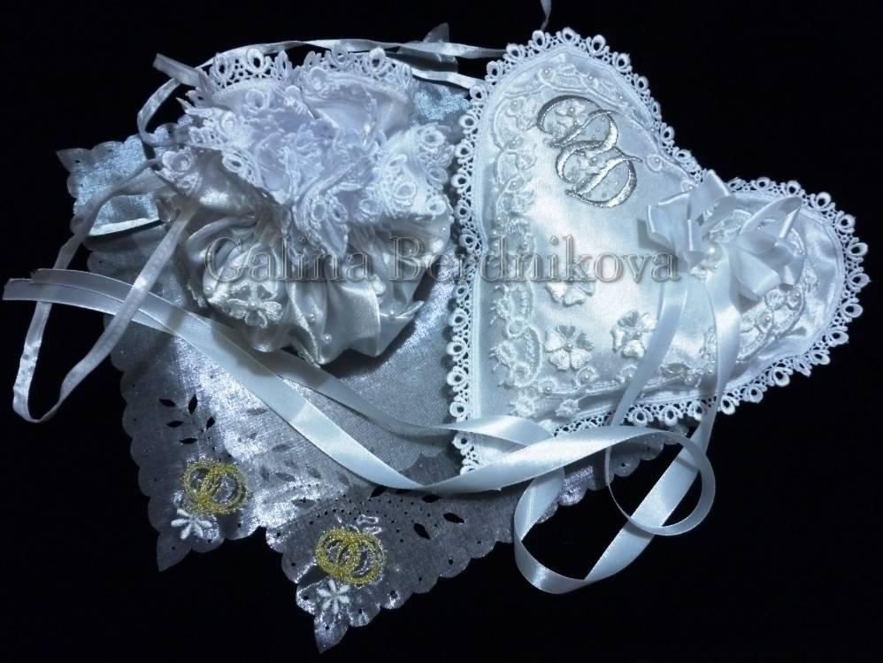 сумочка невесты и подушечка для колец