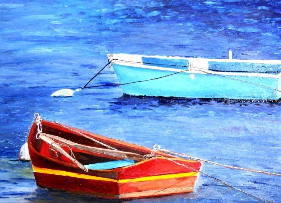 Deux bateaux. Две лодки