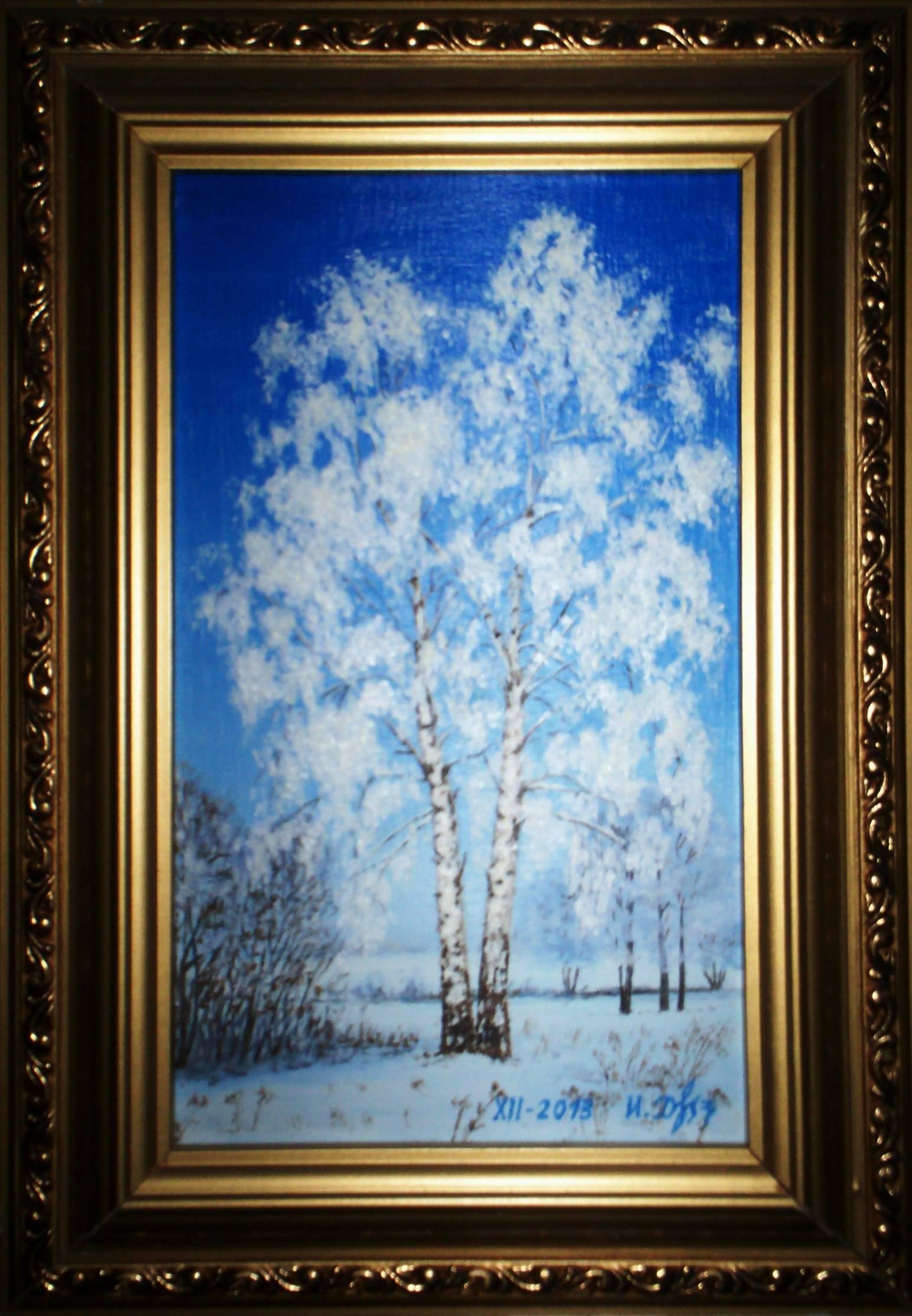 Зима. Чистота души. Холст, масло.2014