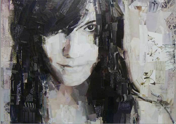 Self portrait, collage, 50x70