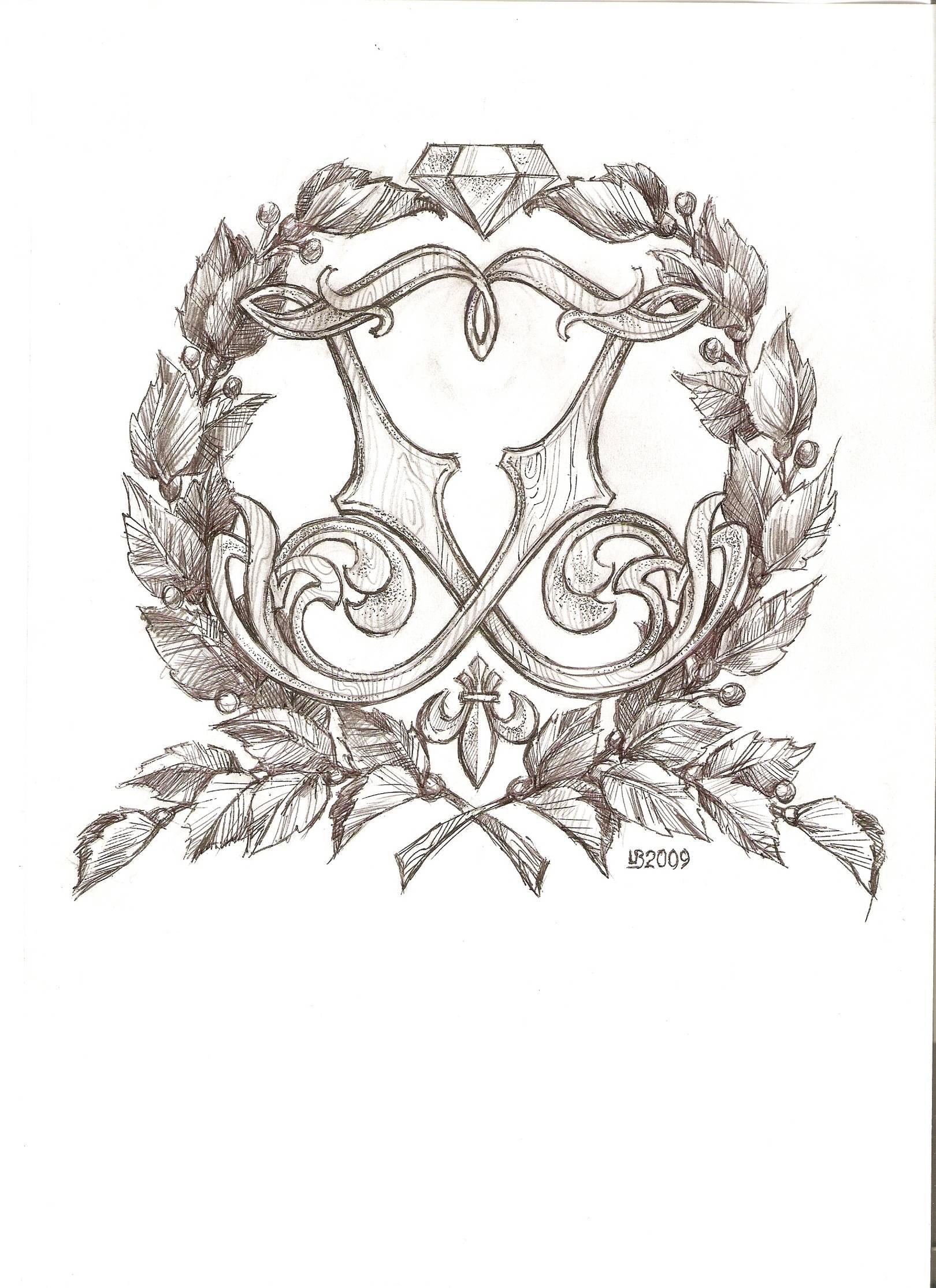 Личный Герб профессионального ювелира, эскизы к нему.