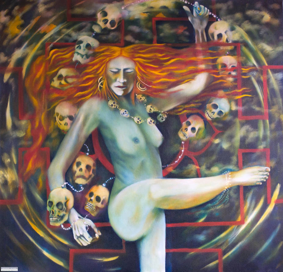 Dance for Kali, oil on canvas, 48 inches by 48 inches