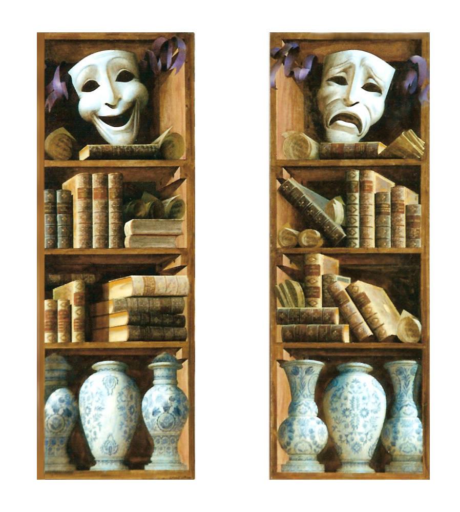 Paintings Bookshelves. Artist Sergey Konstantinov.