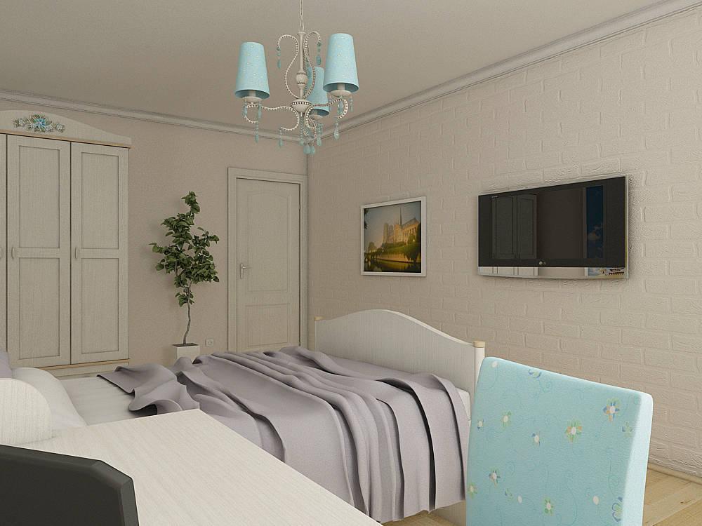 Комната для девушки с французскими мотивами...