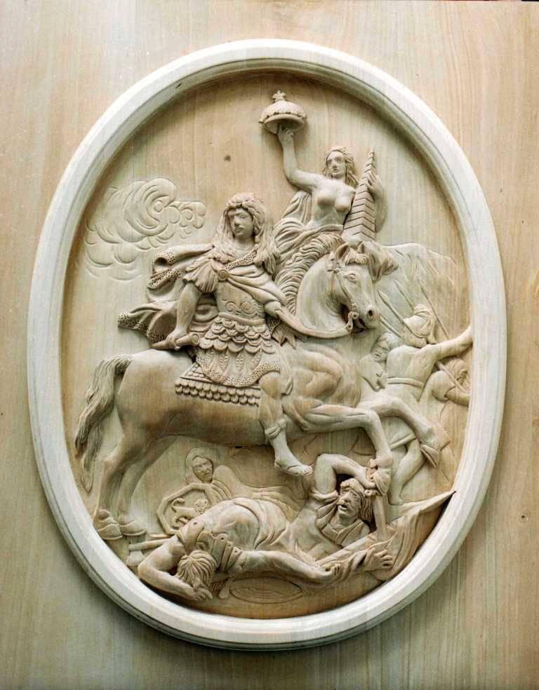Картина.А. Куазевокс. «Переход Людовика XIV через Рейн»
