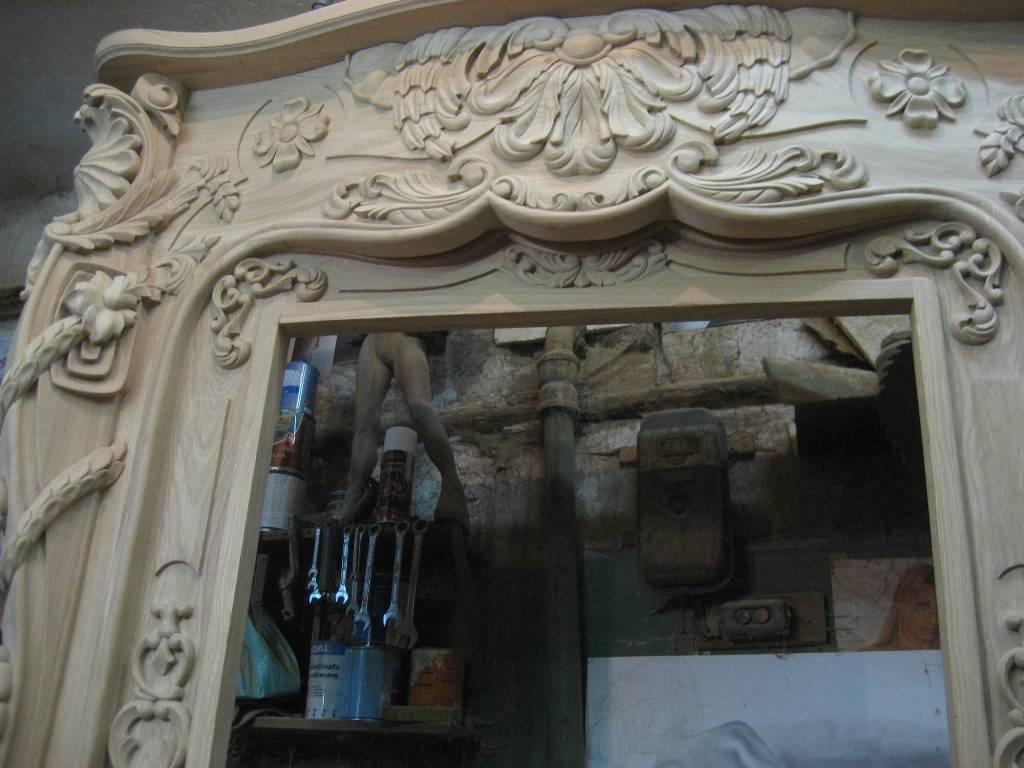 Фрагмент камина без покрытия.