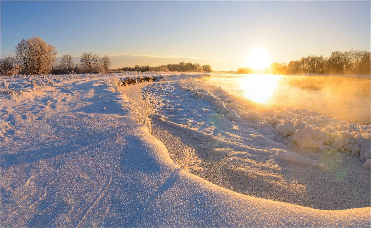 Морозное утро.