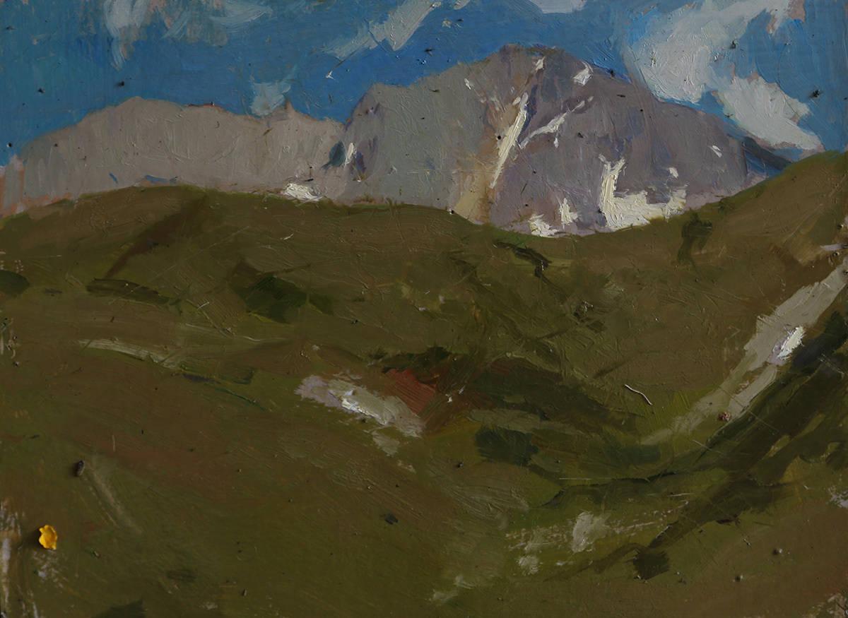 Гора Оштен с перевала