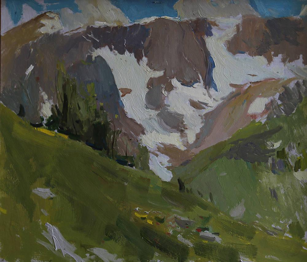 Июльские снежники на горе Пшеха - су