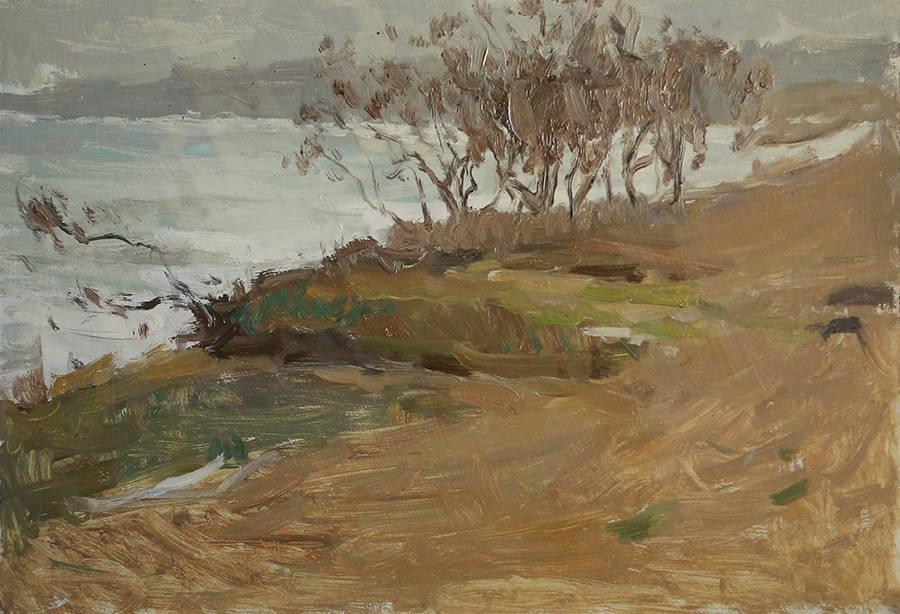 Ейский залив в апреле