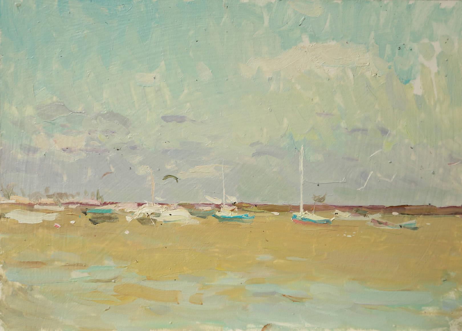 Яхты в Ейском заливе. Август