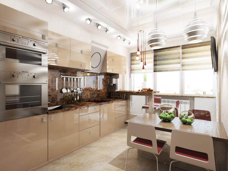 теплые тона кухни фото 36135