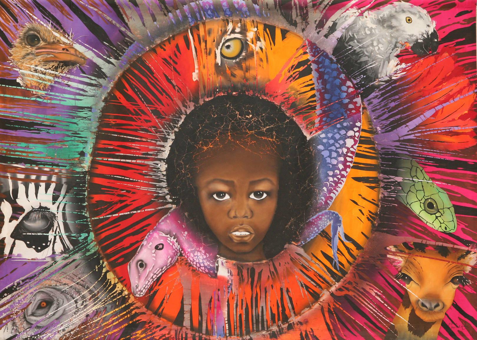 """""""Глаза Африки"""" 2012г. 170/133 хлопок, батик"""