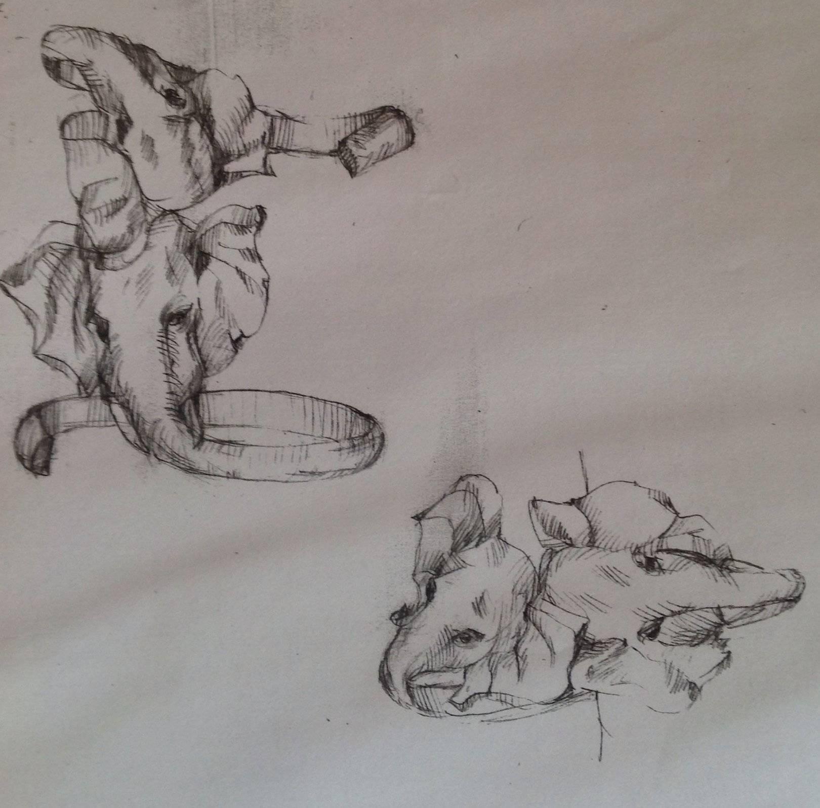 """"""" Слоны"""" эскизы ювелирных изделий."""