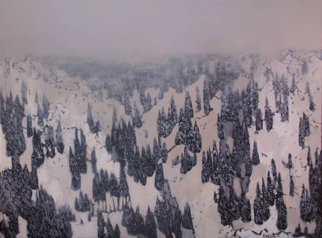 Туманные горы, 60х80см., холст, масло, 2014